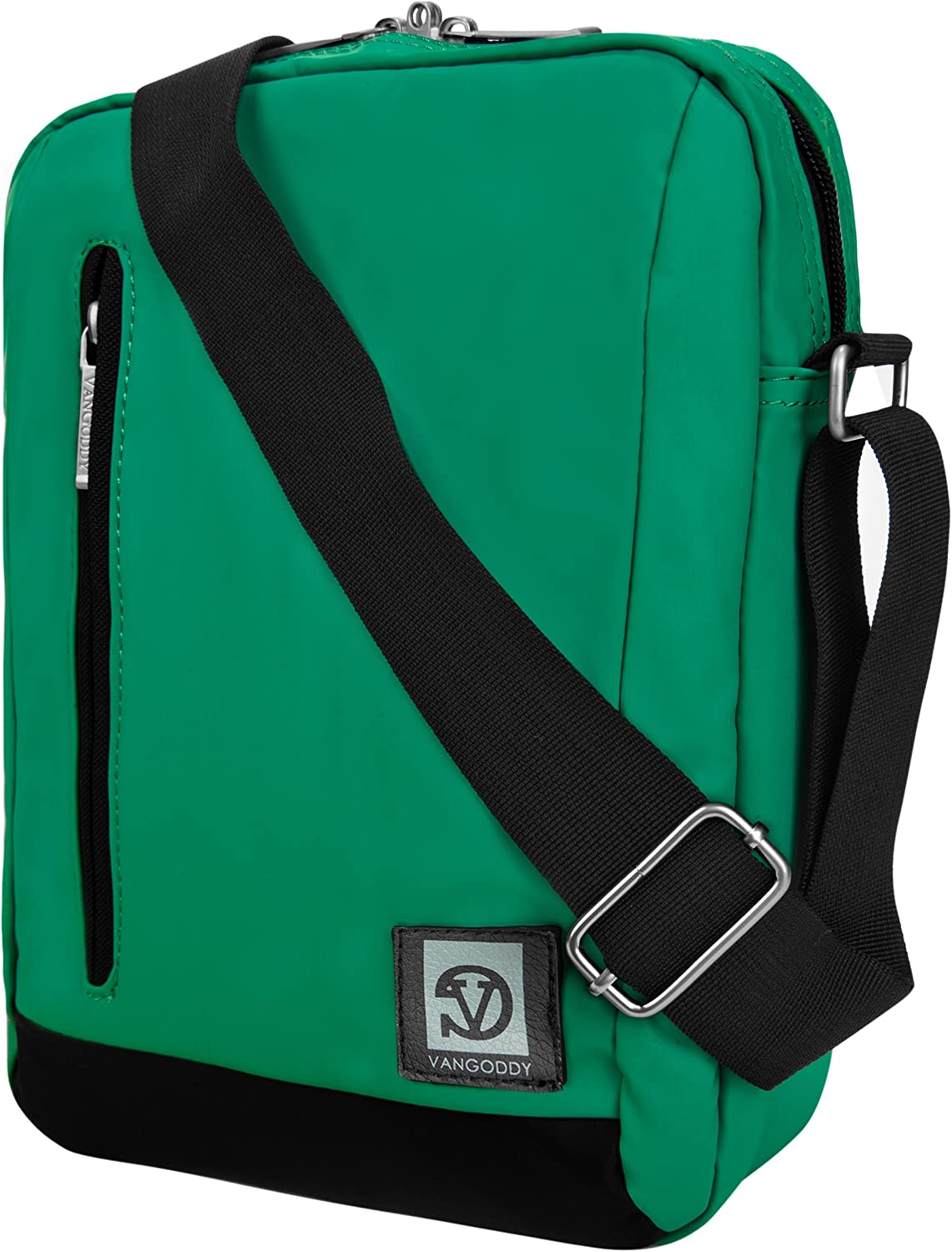 Cambio 10.1 Green Anti-Theft Crossbody Tablet Messenger Bag for RCA Viking Pro 10.1
