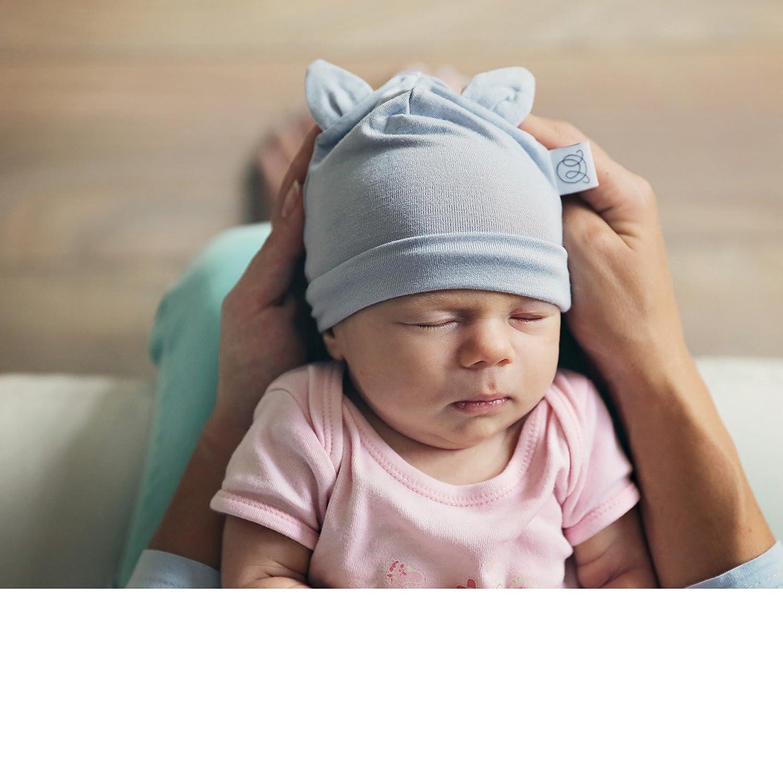 Cappello per Neonato BAMBU Anti-Allergico 0-3 e 3-9 messi Disponibile in vari colori Made in EU MayLily/® Premium