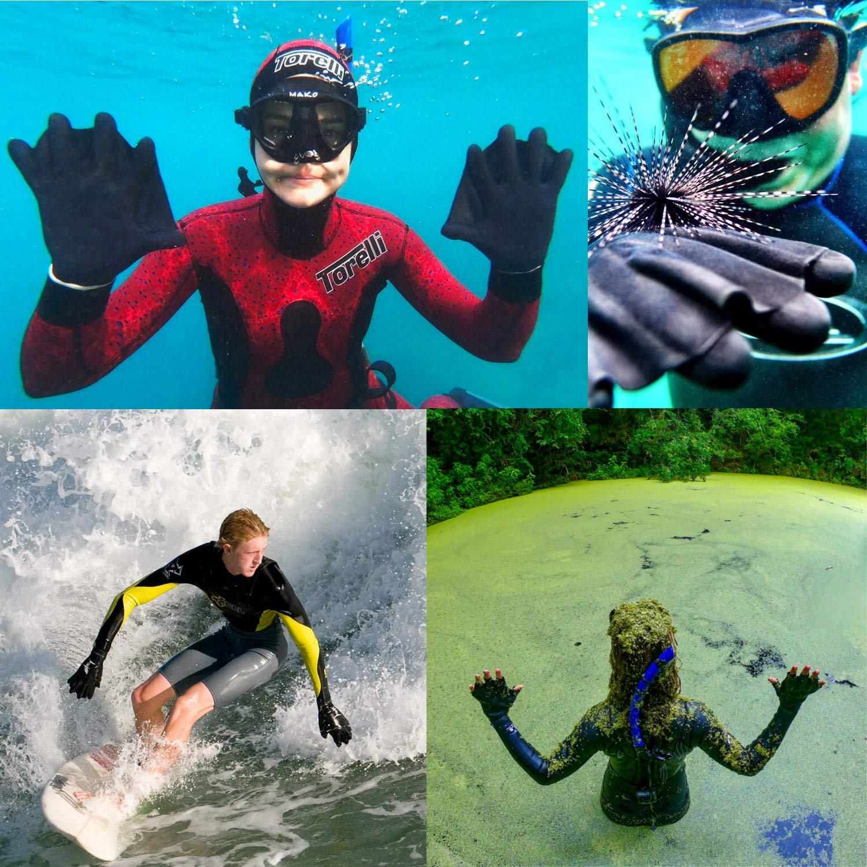 nataci/ón Darkfin Guantes para buceo kayak y deportes acu/áticos surf