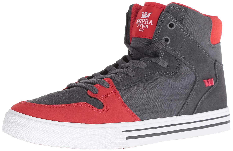 Dark gris Risk rouge-blanc Supra Vaider S28058, paniers Mode Mode Homme  nouveau sadie
