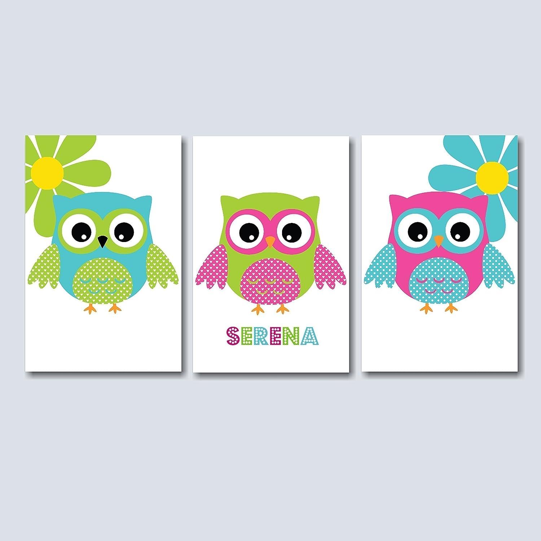 Amazon.com: Owl Nursery Wall Art,Owl Baby Room Decorations,Owl