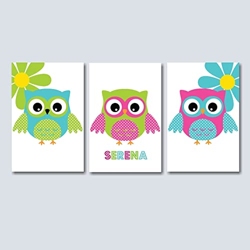 Owl Nursery Wall Art,Owl Baby Room Decorations,Owl Wall Art,Owl Kids