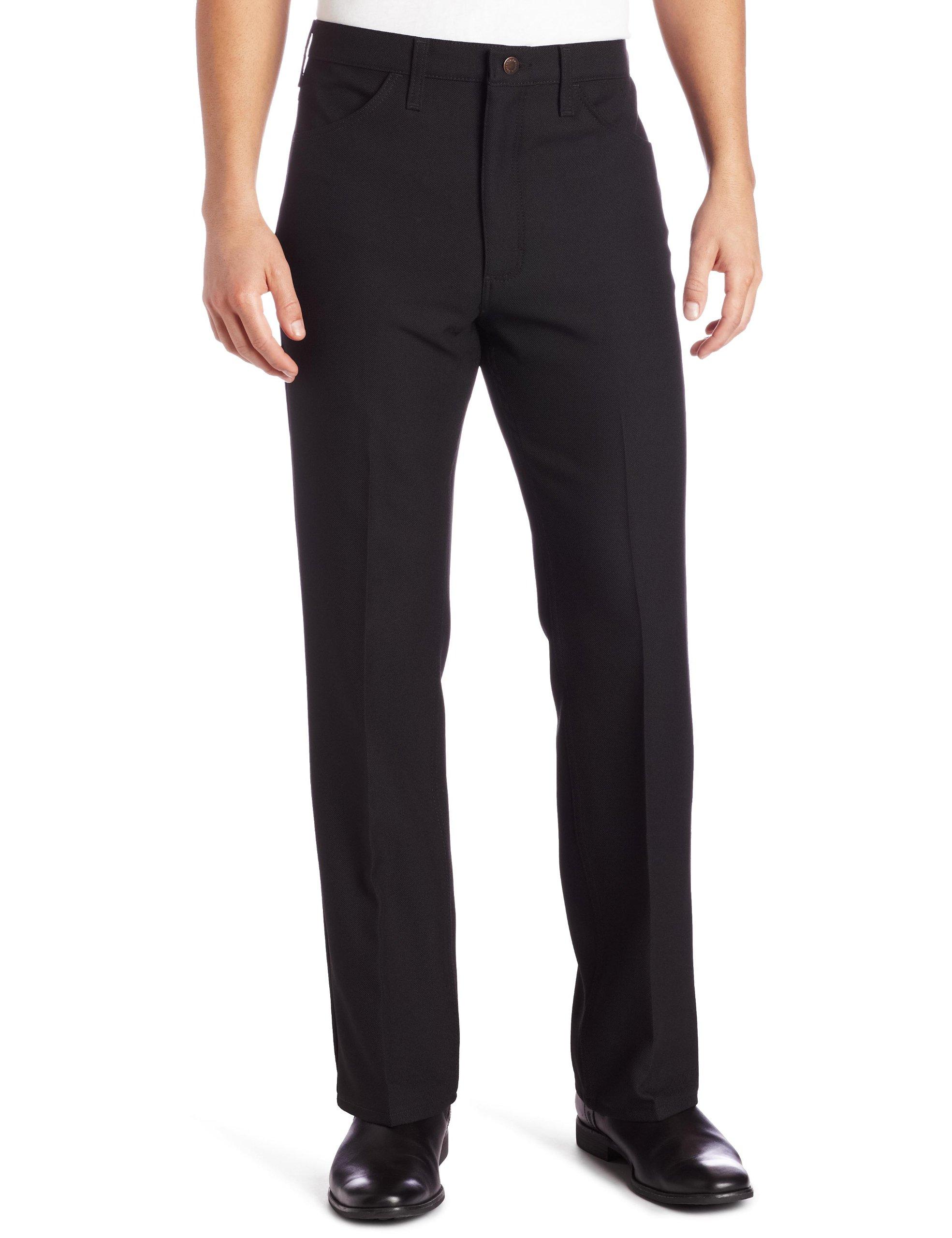Wrangler Men's Big Wrancher Dress Pant Black, Black, 46x30