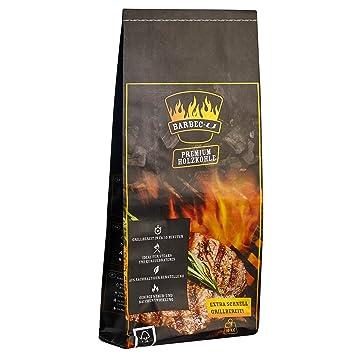 Barbec-U Premium 200100001188 Carbón Grueso para Asados, Negro, 100x37x17 cm
