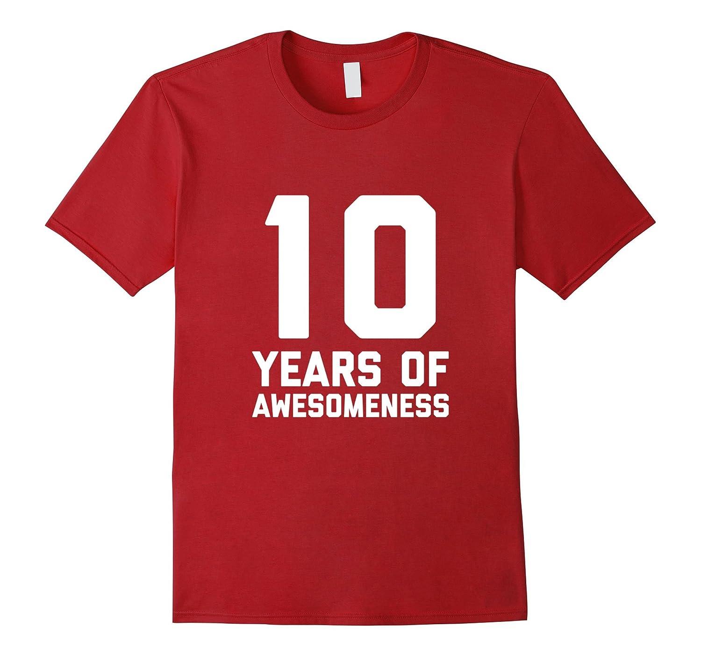 10th Birthday Shirt Gift Age 10 Year Old Boy