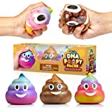 YoYa Toys Poop Emoji DNA Stress Ball [3-Pack] | Squeezing, Anxiety Relief Ball for Kids & Adults | Squishy Toys for Autism, Fidgeting, ADHD, Quitting Bad Habits & More | Sensory Rubber Ball