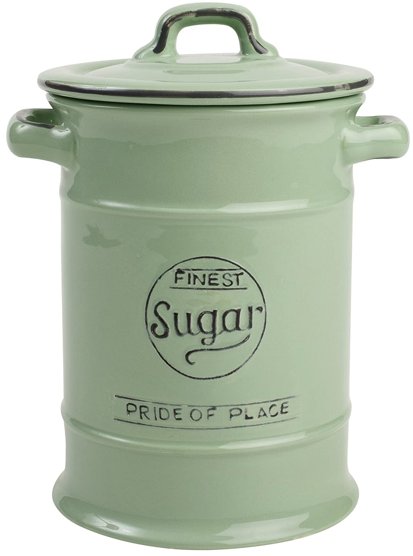 T& G Woodwares 10502 Pride of Place - Cuenco de cerámica para azúcar, color verde TG Woodware