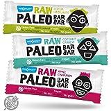Maxsport Nutrition Raw Grezzo Paleo Vegan glutine libero Proteina crudité chiavistello - Plant Proteina, Coconut oil, Chia seeds, 20 x 50g Mix Box
