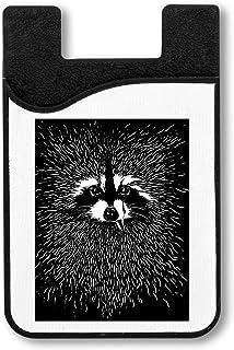 Fancy Racoon Fur Titulaire de la Carte de crédit pour Smartphone