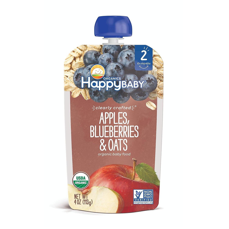 Happy Baby, Organics Apples Blueberries & Oats, 4 oz