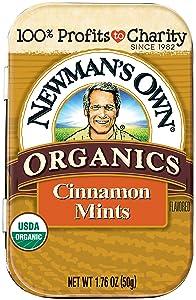 Newman's Own Organic Mints, Cinnamon, 1.76-Oz. (Pack Of 6)