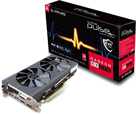 PCI-E Graphics Card UEFI Sapphire Technology Technology Radeon 11266-04-20G Pulse RX 570 4GB GDDR5 Dual HDMI// DVI-D// Dual DP OC with Backplate