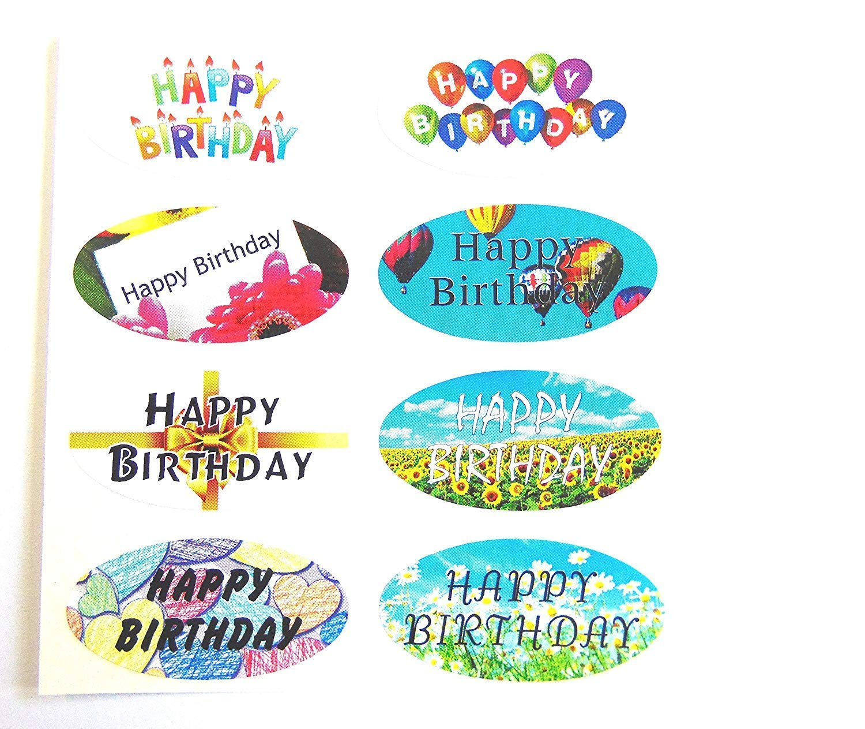 Amazon.com: Minilabel Mini Sticker Pack, 16 Feliz cumpleaños ...
