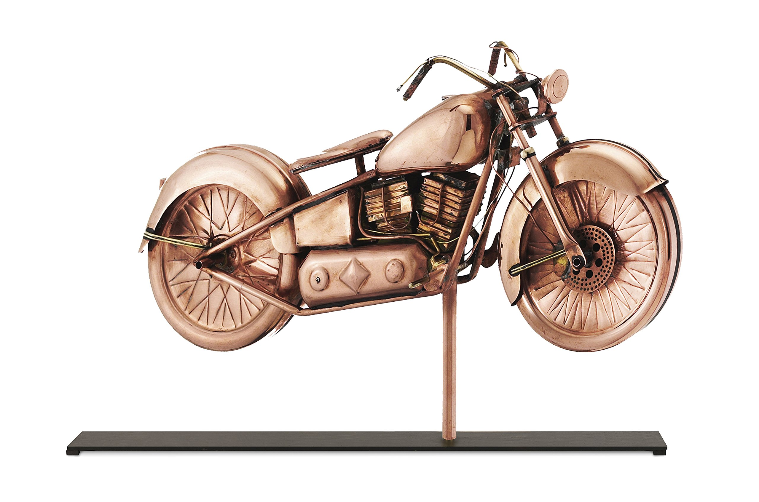 Good Directions Motorcycle Weathervane Sculpture on Mantel / Fireplace Stand, Pure Copper, Sporting Home Décor, Tabletop Accent