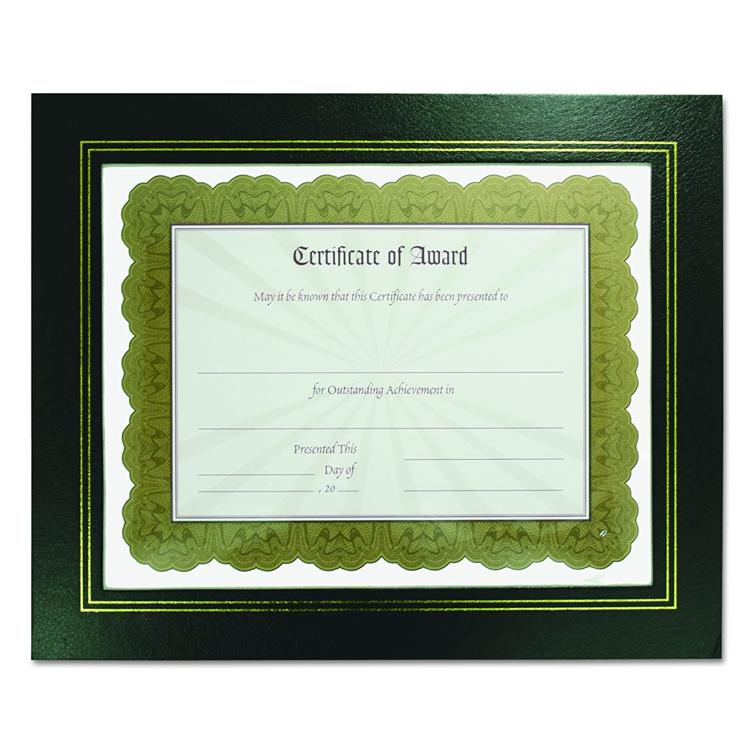 B00094GSGC NuDell 21202 Leatherette Document Frame, 8-1/2 x 11, Black (Pack of Two) 81i8q96rfaL
