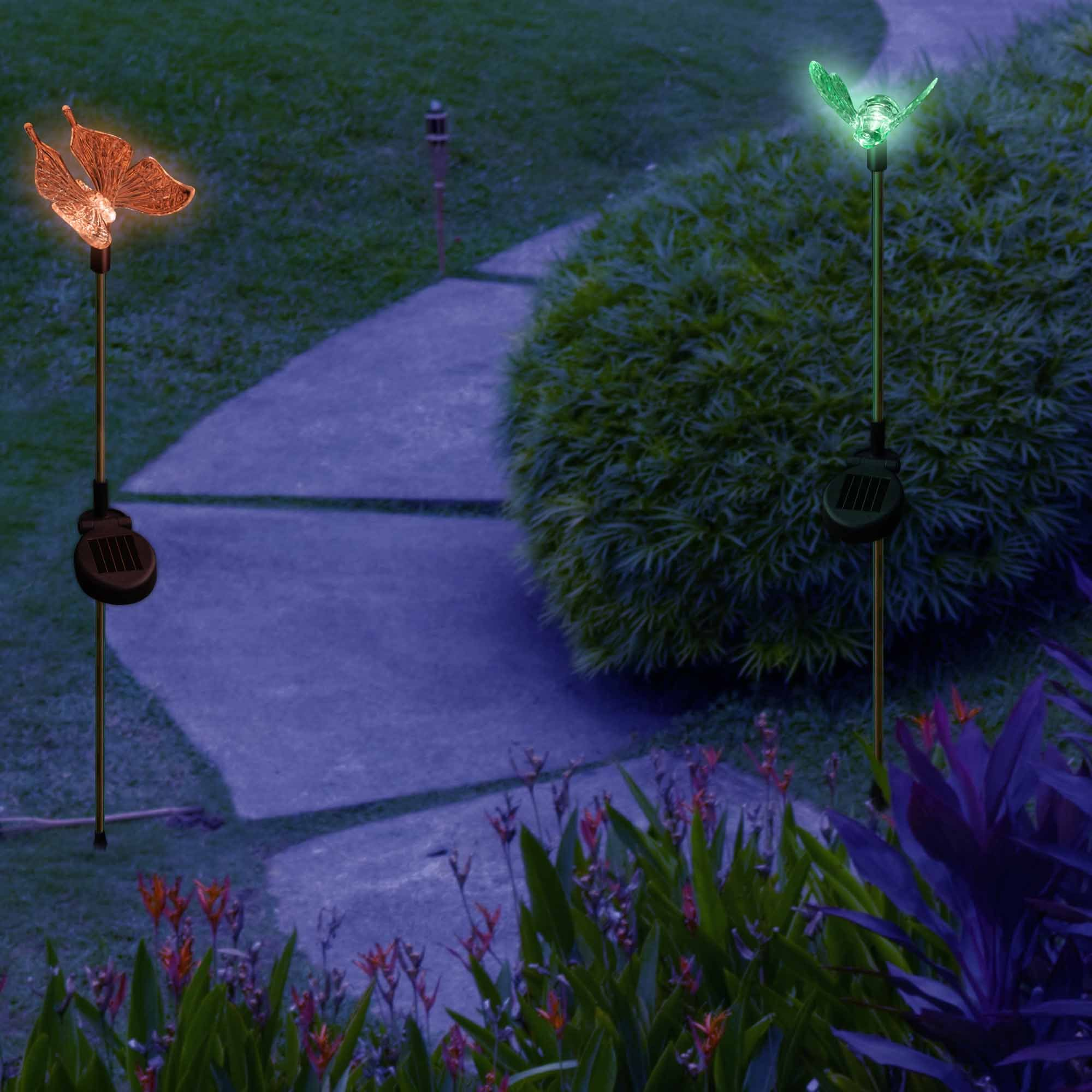 SolarDuke Solar Garden Outdoor Stake Lights Butterfly and Bumble Bee Garden Lighting Path Decoration Color Changing Patio Lawn Backyard Decor by SolarDuke (Image #6)
