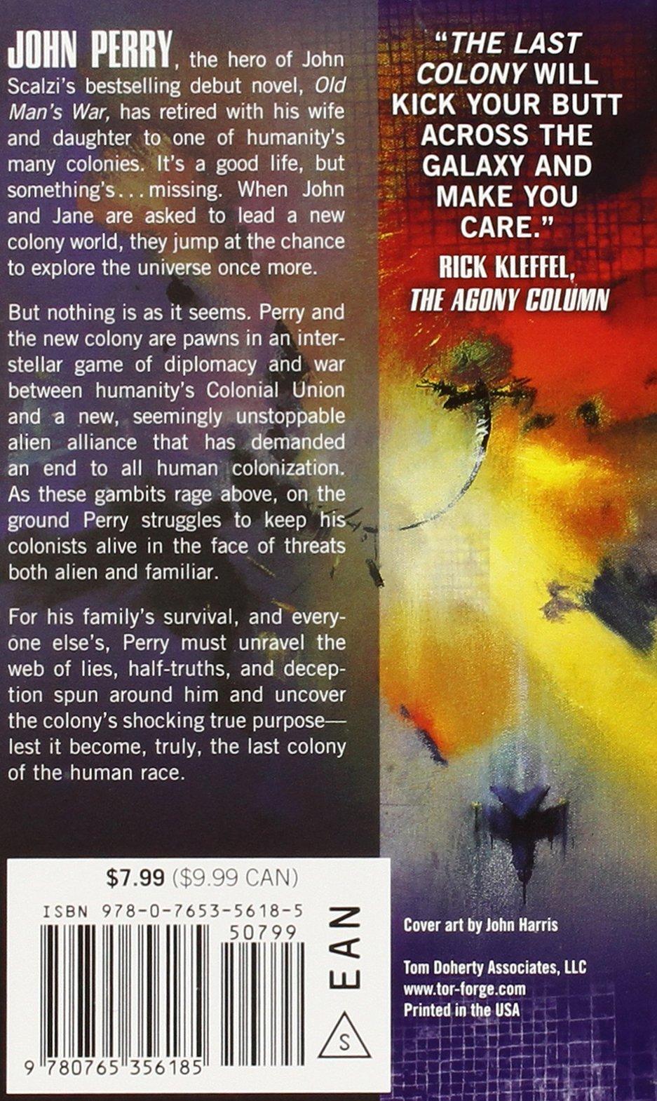 The Last Colony (Old Man's War): John Scalzi: 9780765356185: Amazon.com:  Books