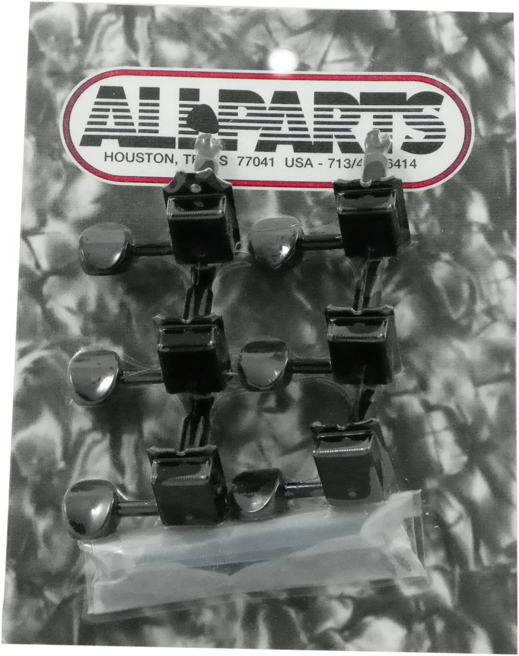 All Parts TK 0880-003 Gotoh Vintage 6 In Line Black Tuners