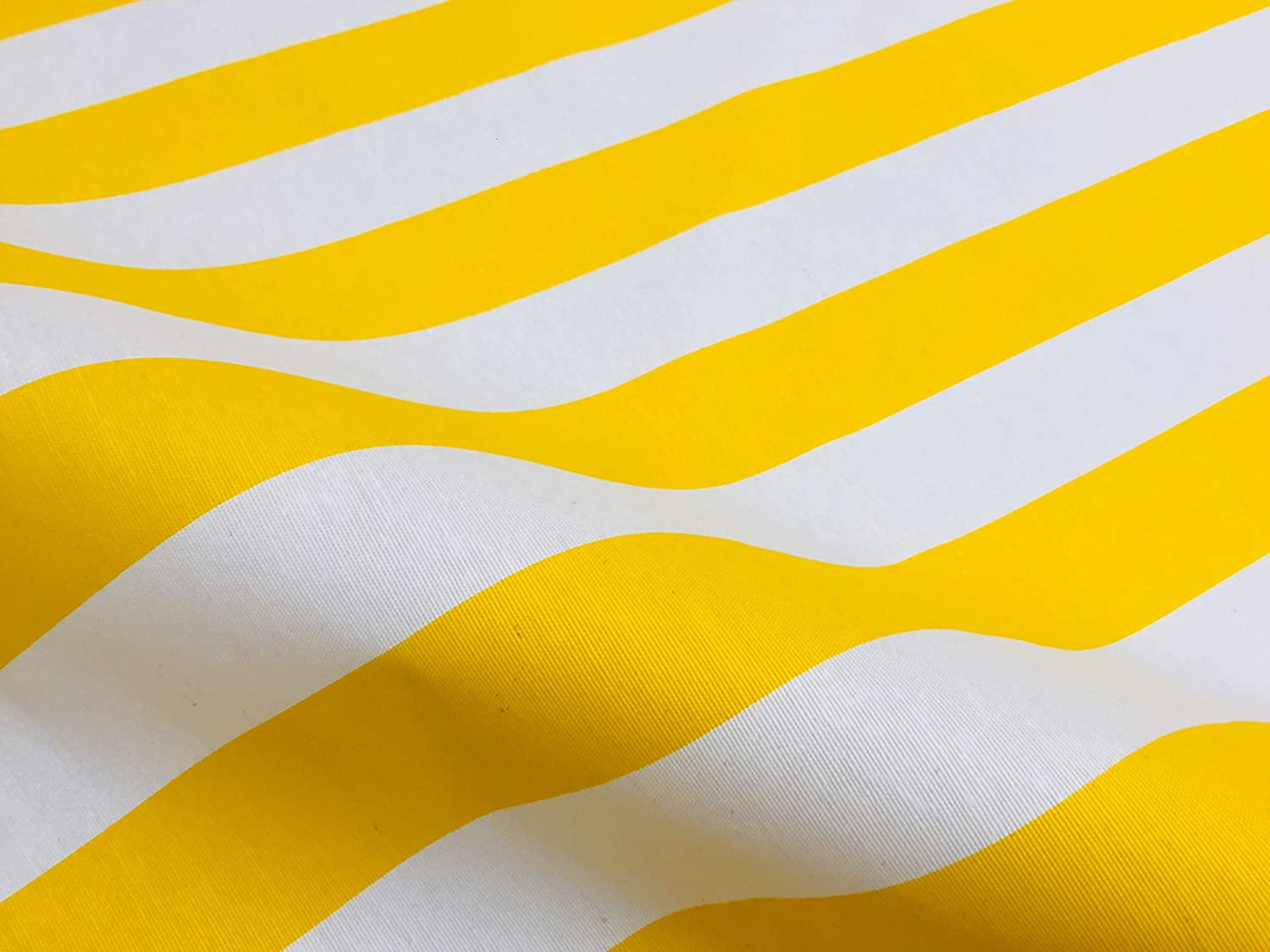 gazebo 140cm wide sold by the metre BLACK /& WHITE, 1 METRE beach 4cm wide Stripe Canvas Material for cushions Teflon Waterproof Outdoor Striped Fabric