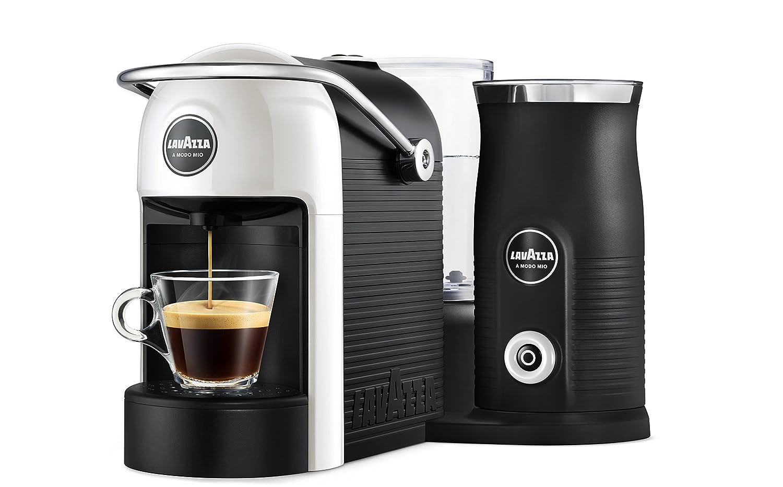Lavazza A Modo Mio Jolie & Milk - Cafetera con espumador de Leche Bianco: Amazon.es: Hogar