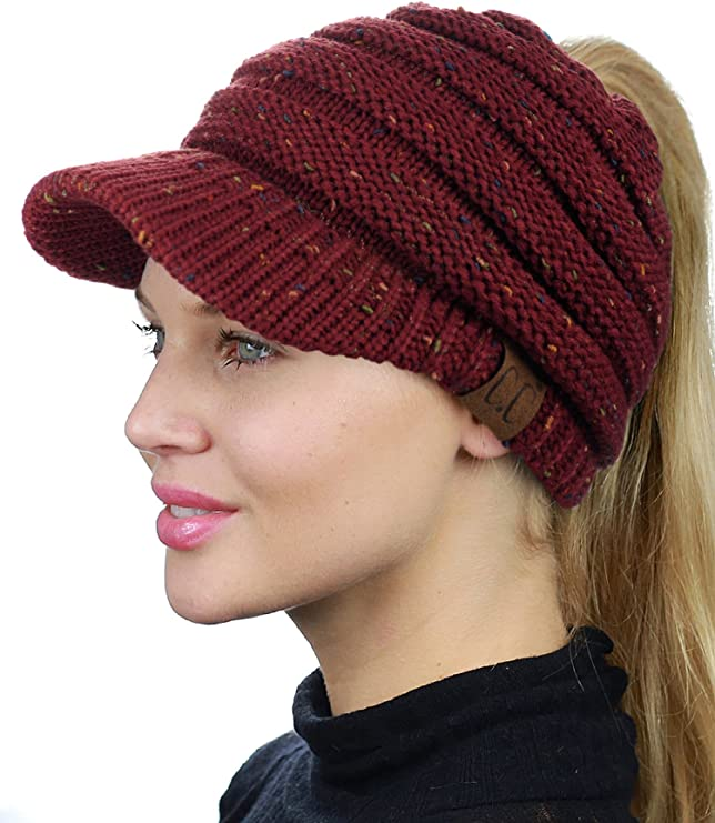 CC Beanie With Ponytail Hole