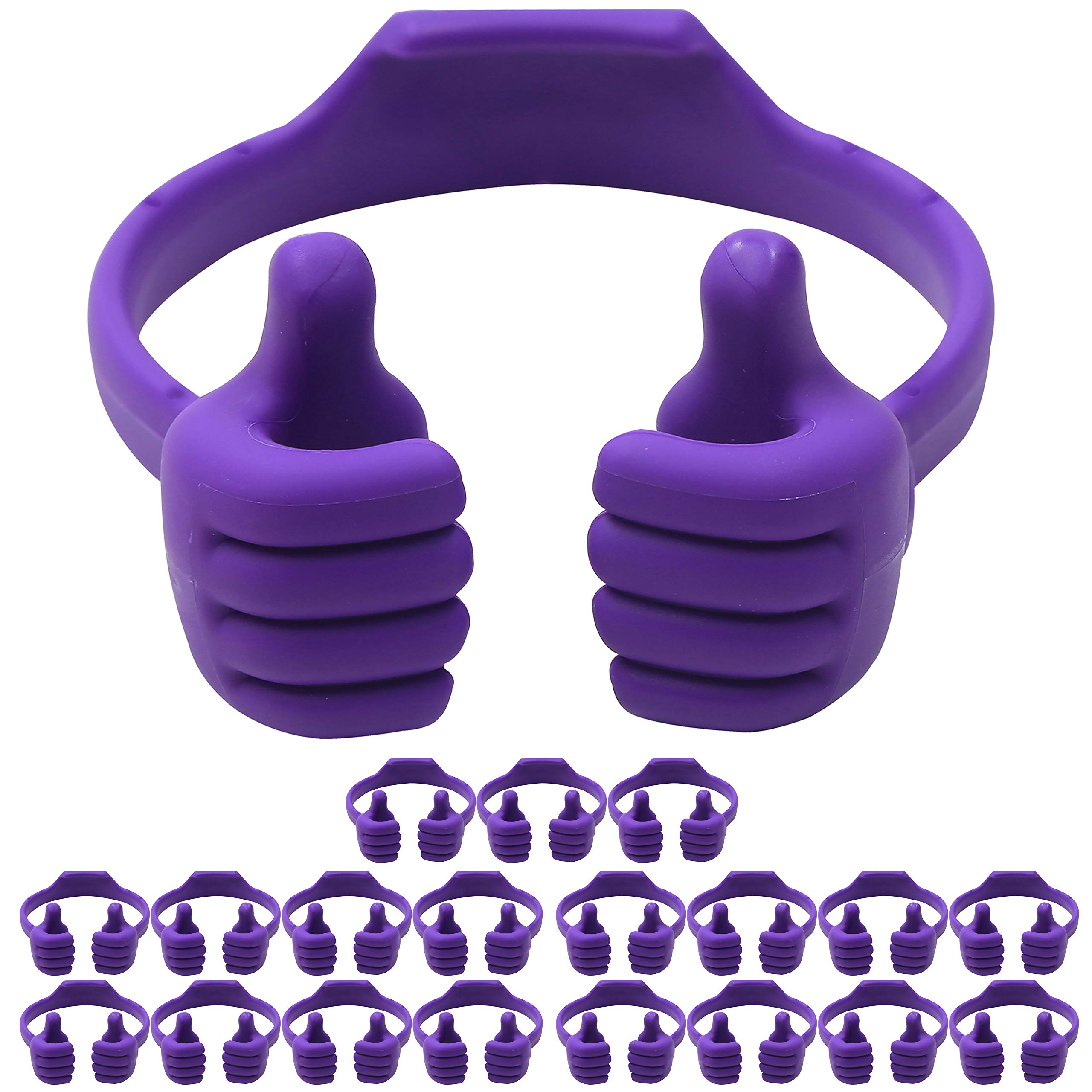 Cell Phone Tablet Stands (20 Packs): Honsky Thumbs-up Cellphone Holder, Tablet Display Stand, Mobile Smartphone Mount Cradle for Desk Desktop - Universal, Multi-Angle, Cute, Purple by Honsky