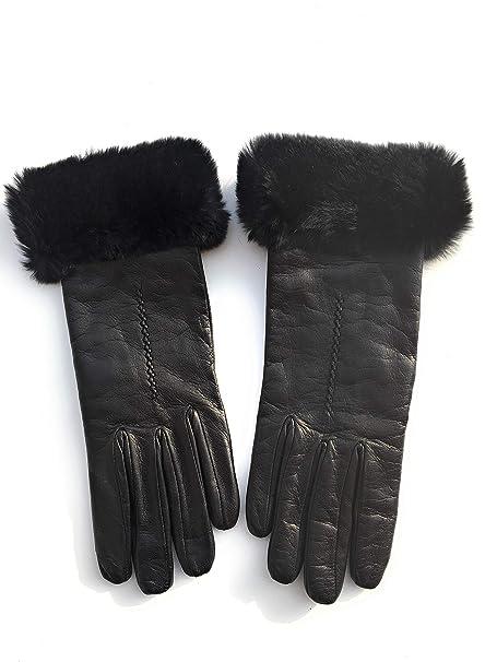 il più votato genuino prodotti caldi Super carino Gioielli di Pelo - Guanti in pelle con interno in lana con ...