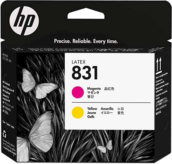 HP 831 - Cabezal de Impresora (HP Latex 310 HP Latex 330 HP Latex 360), Color Cian Claro y Magenta Claro: Amazon.es: Oficina y papelería
