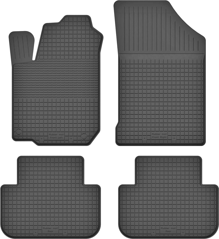 Ko Rubbermat Gummimatten Fußmatten 1 5 Cm Rand Geeignet Zur Citroen Xsara Picasso 1999 2015 Ideal Angepasst 4 Teile Ein Set Auto