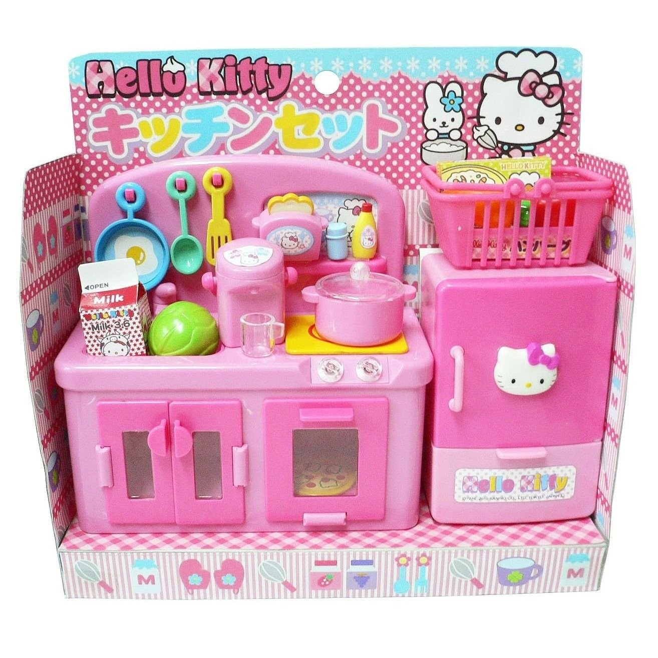 Hello Kitty Kitchen and Refrigerator Sets Sold Together - Everything Needed for Cooking Play by Hello Kitty (Image #3)