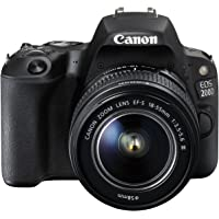 Canon EOS 200D 18-55 III DSLR Camera Lens Kit - Black