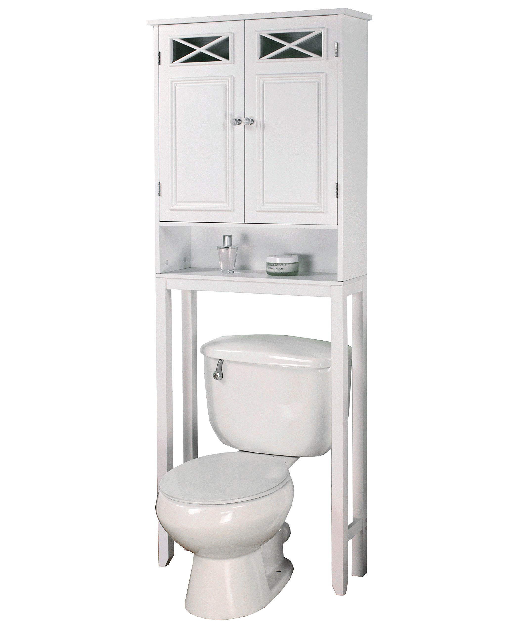 Elegant Home Fashions Dawson Collection Shelved Bathroom Space-Saver with Storage Cubby, White by Elegant Home Fashions (Image #3)