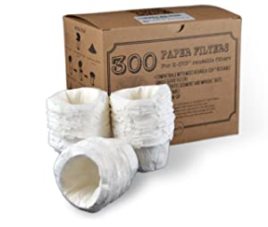 canFly Disposable K-CUP Paper filter for Keurig single cup coffer filters compatible with Ekobrew, EZ-Cup and other Reusable K-CUP Filters (300 Count)