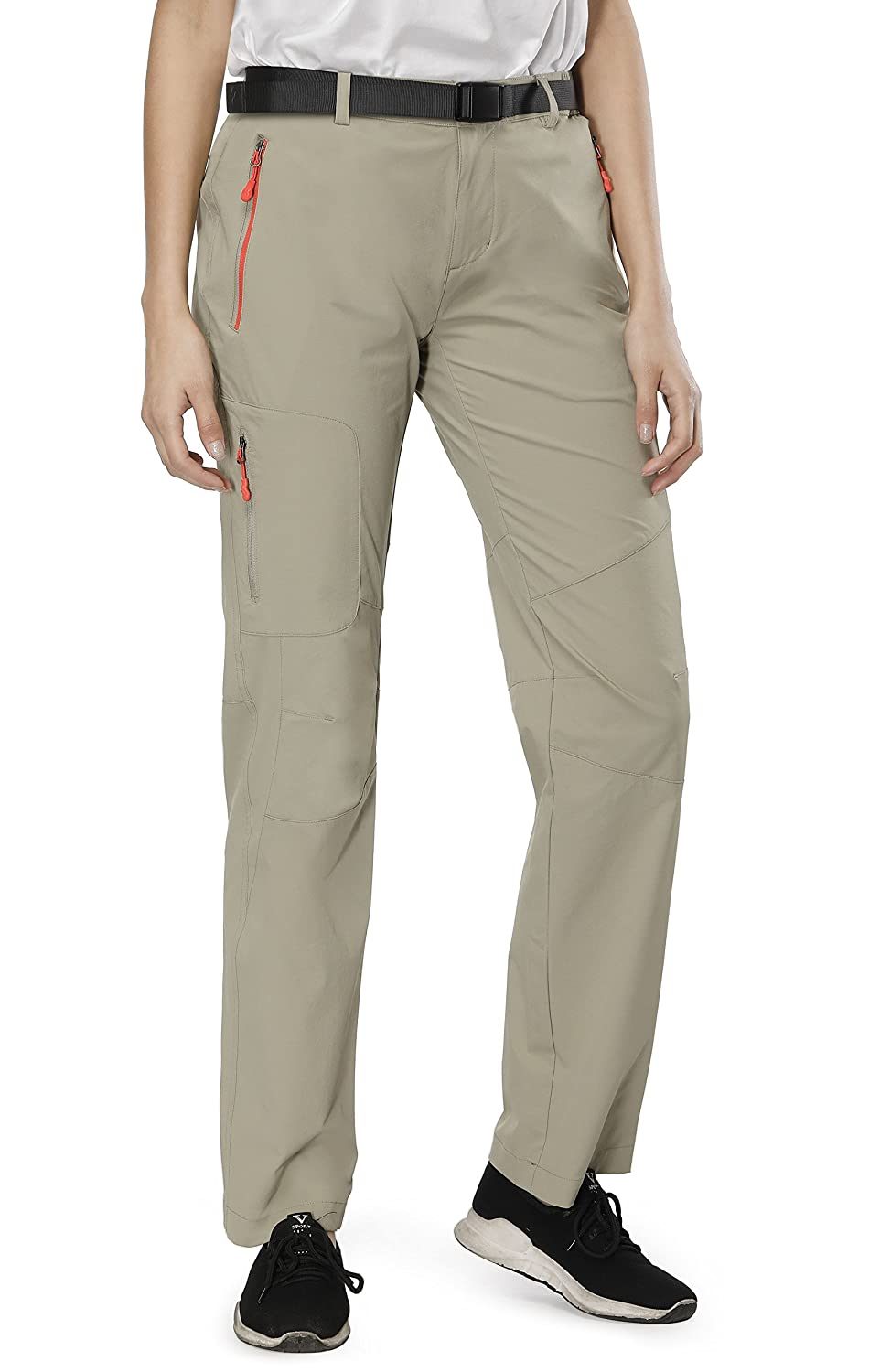 8b20450e25205 Lightweight Hiking Pants---- Only about 12 ounces, MIER women pants made of  light but durable nylon fabric with 4-way stretch for easy movement.