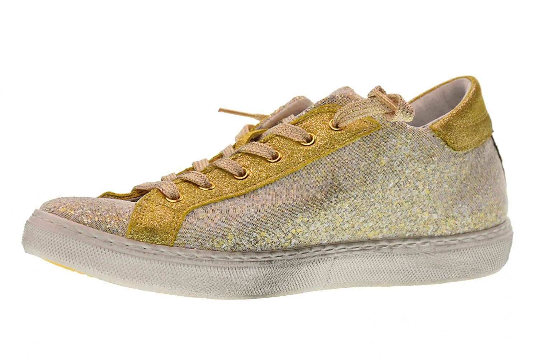 2 Star Frauen Niedrige Turnschuhe Schuhe 2SD 1862 Gold