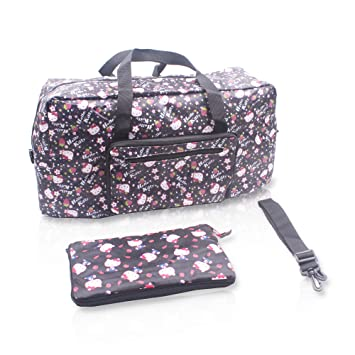 Finex Hello Kitty Foldable Easy-to-carry Travel Bag with adjustable strap -  Random Black df31efafba003