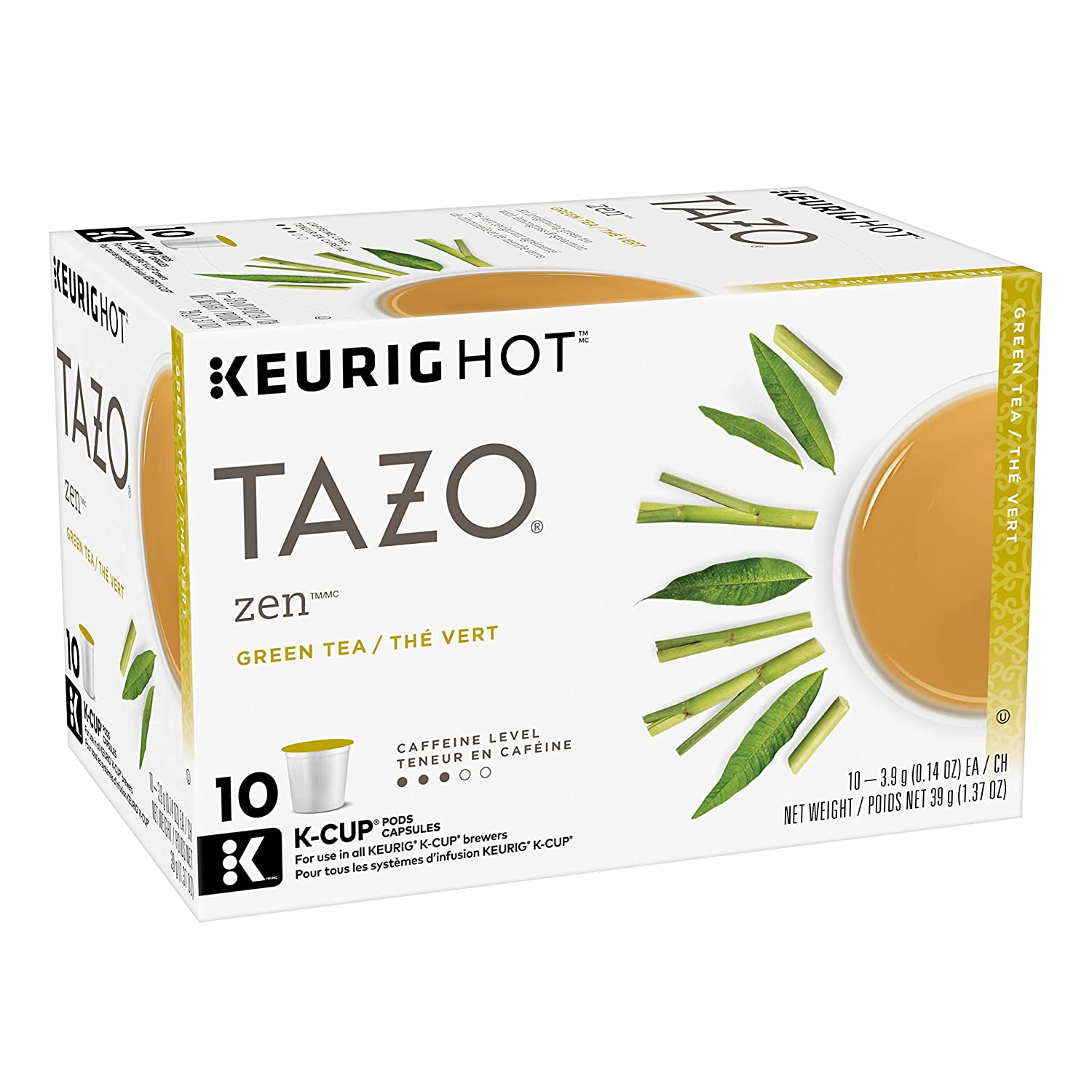 Tazo Zen K-Cup Pods For a Calming Tea Green Tea Moderately Caffeinated Morning Drink 10 K-Cup Pods
