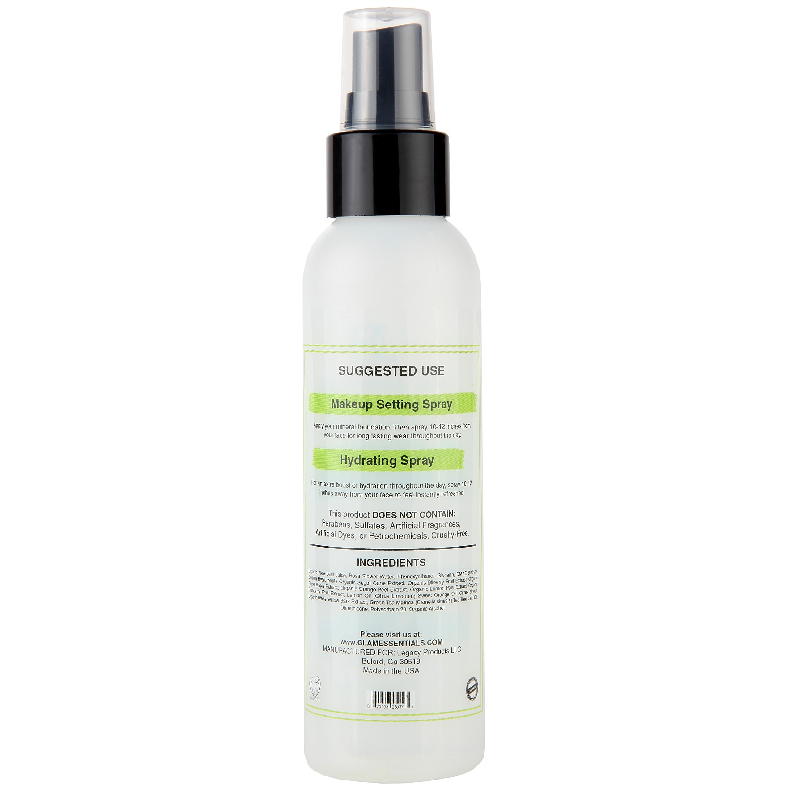 Makeup Setting Spray With Matcha Green Tea, Hyaluronic Acid and Rose Water Gives A Matte Flawless Finish All Day, Repairs Sun Damage Skin Paraben and Cruelty-Free