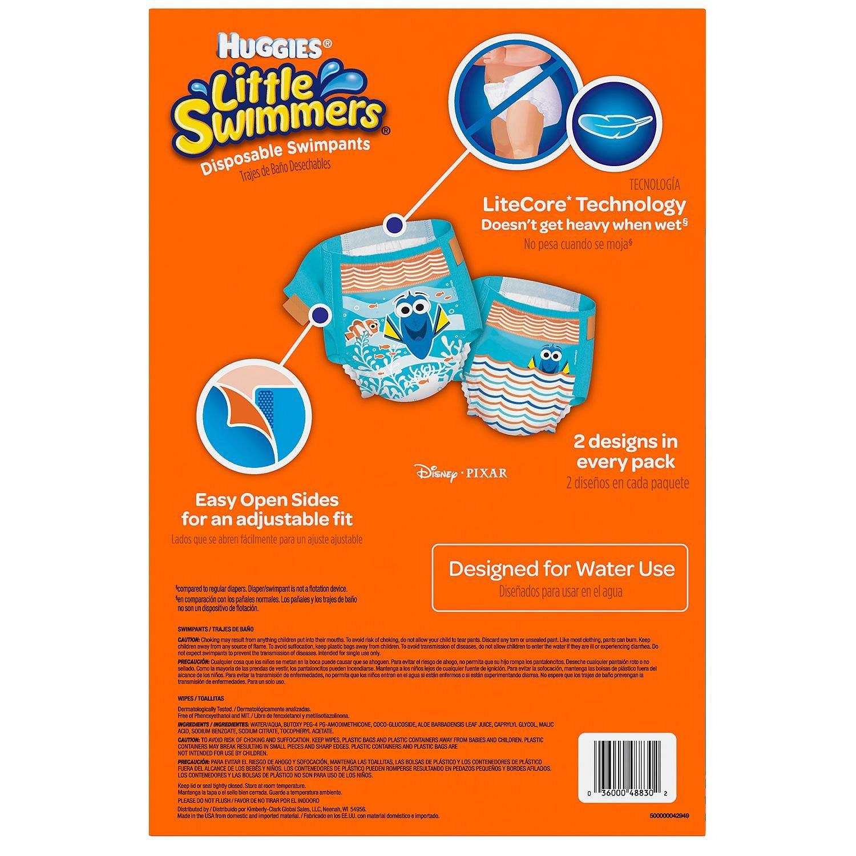 Amazon.com: Huggies Little Swimmers Swimpants Medium (23-34lbs),27 CT, Bonus 56 Wipes Included: Health & Personal Care