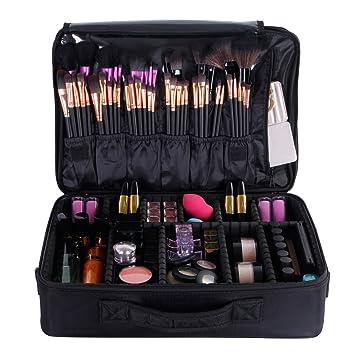 Amazon.com : Valdler Large Makeup Bag Portable Cosmetic Organizer ...