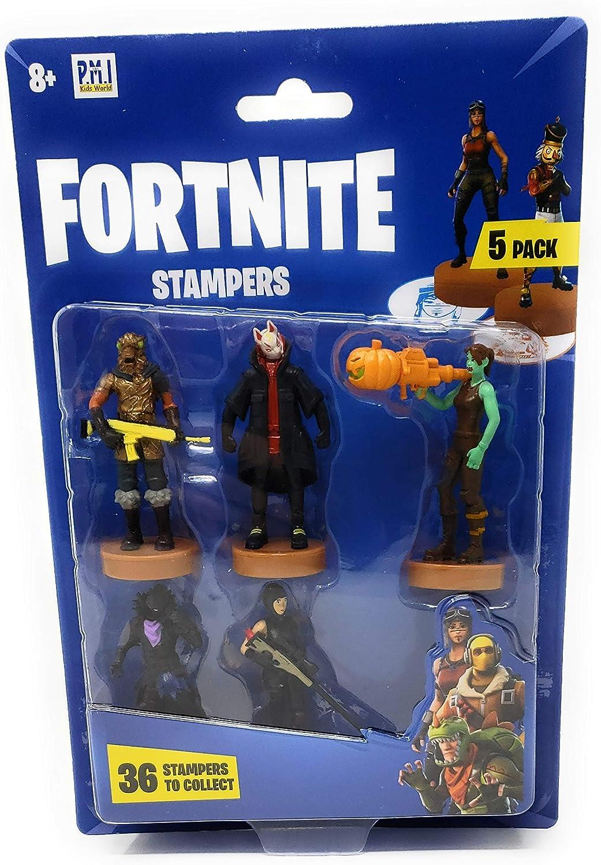 Epic Games Fortnite Stampers al Azar Personajes seleccionados – 5 Unidades: Amazon.es: Juguetes y juegos