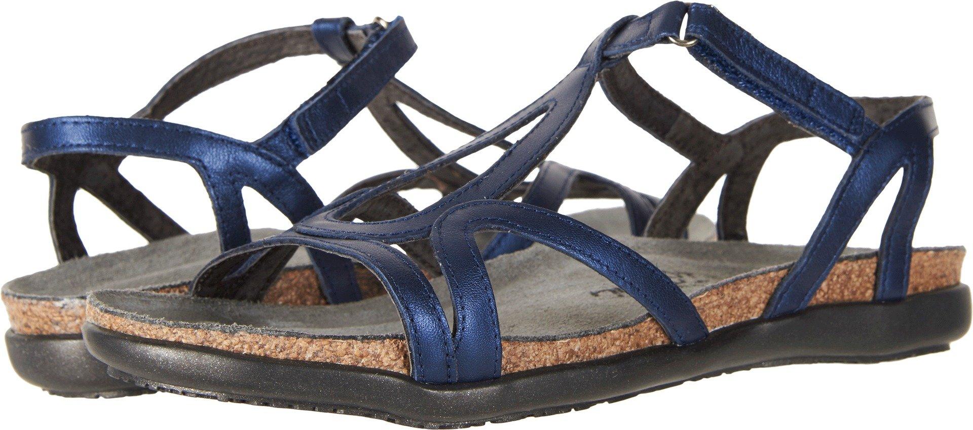 NAOT Women's Dorith Sandal Polar Sea Leather Size 38 EU (7.5-8 M US Women) by NAOT