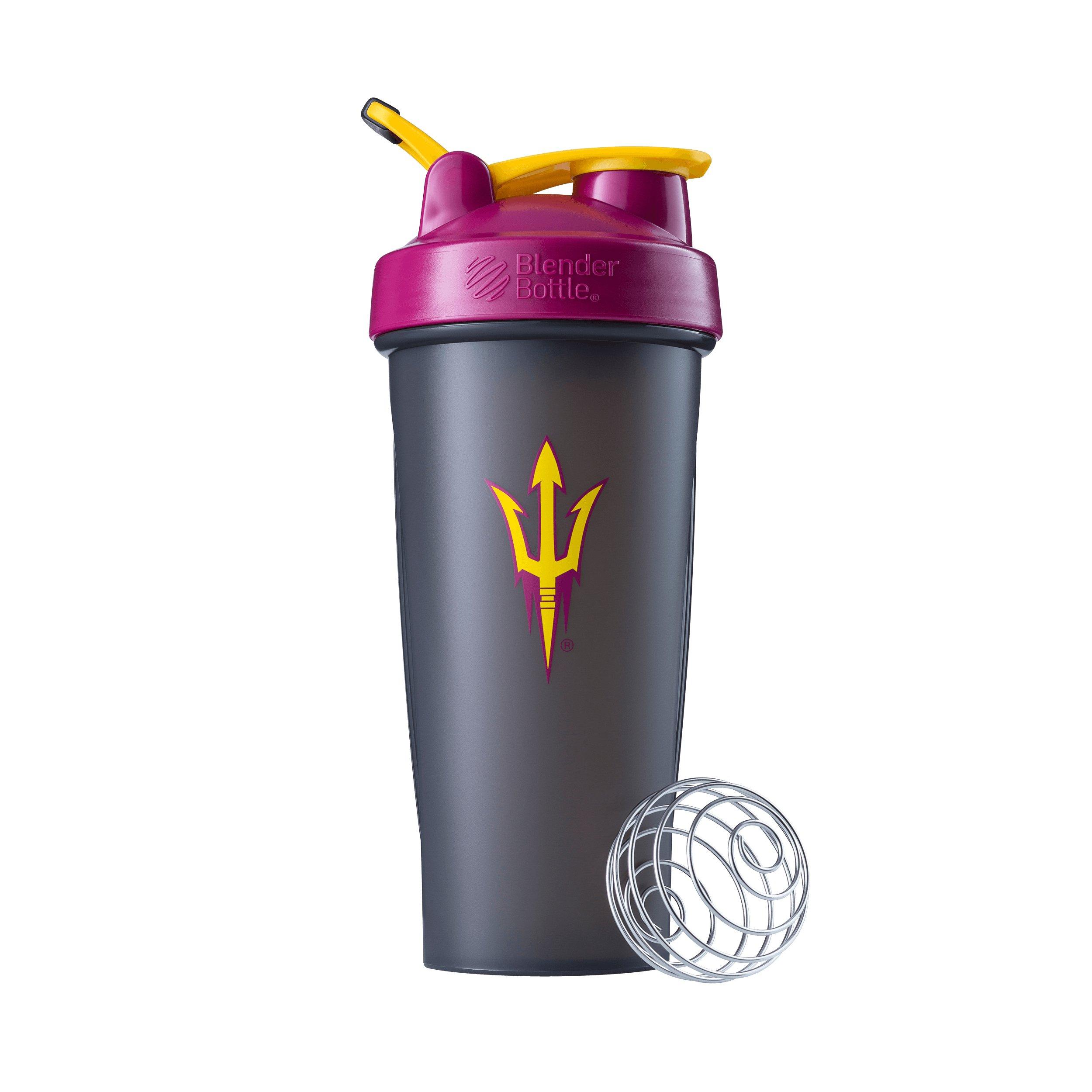 BlenderBottle Collegiate Classic 28-Ounce Shaker Bottle, Arizona State University Sun Devils - Grey/Maroon