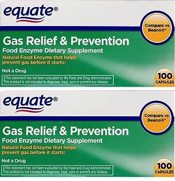 Amazon.com: Equate Gas Relief & Prevention Alimentos Enzyme ...