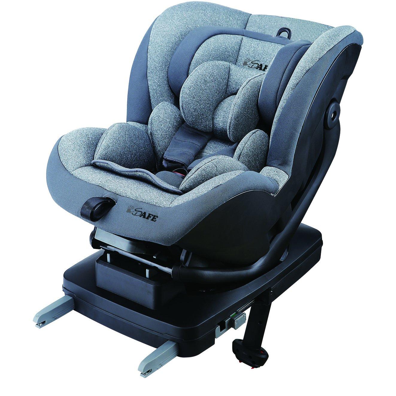 Aurora iSOFIX Carseat Group 0+1 Car Seat - Various Designs (Dark Knight (Black/Grey)) Baby Travel