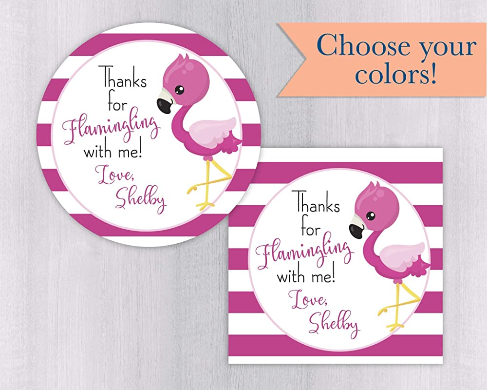 Flamingo Party Favors Flamingle Wafer Candy Kit Kat Inspired Labels Flamingle Baby Shower Favors Printed Favors Candy Labels Digital
