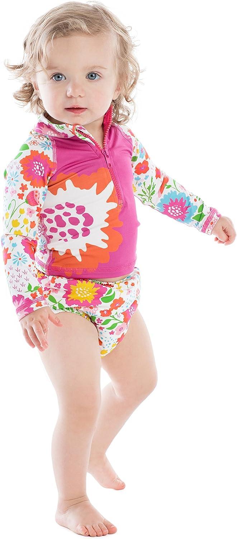 Masala Baby Girls Baby Swim Diaper Cover English Garden Multi