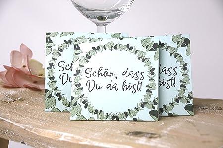 10 Stück Gastgeschenke Zur Konfirmation Kommunion Taufe Inkl Sonnenblumensamen Motiv Eukalyptus
