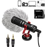 BOYA BY-MM1 Compact On Camera Shotgun Video Microphone Youtube Vlogging Facebook Livestream Recording Mic for iPhone HuaWei Smartphone DJI Osmo Mobile Plus,for Canon Nikon Sony DSLR Cameras
