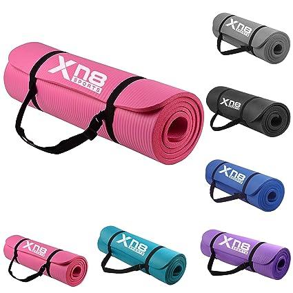 Xn8 15 mm NBR Esterilla acolchada gruesa con tiras para yoga ...